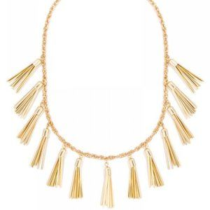 Baublebar Gold Tassel Strand Statement Necklace